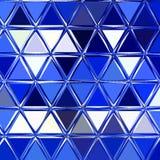 Абстрактная геометрическая предпосылка с голубыми треугольниками Картина полигона иллюстрация вектора