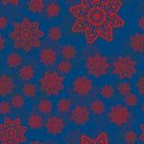 Абстрактная геометрическая предпосылка с случайно распространяемыми мандалами похожие на Цветк обои форм Племенное вектора абстра Стоковые Изображения