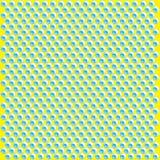 Абстрактная геометрическая предпосылка, голубые круги на яркой желтой предпосылке Стоковые Изображения RF