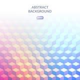 Абстрактная геометрическая предпосылка куба в равновеликом стиле Тени цветов Переходы цвета Стоковое Фото