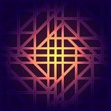 Абстрактная геометрическая предпосылка с графическим визуализированием данных, взаимодействия, науки, технологии Футуристическая  Стоковая Фотография RF