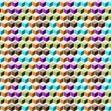 Абстрактная геометрическая предпосылка с равновеликими кубами Стоковое фото RF