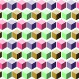 Абстрактная геометрическая предпосылка с равновеликими кубами Стоковая Фотография RF
