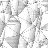 Абстрактная геометрическая предпосылка с monochrome Стоковые Изображения RF