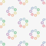 Абстрактная геометрическая предпосылка, 7 человеческих chakras, seaml Стоковое фото RF
