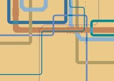 Абстрактная геометрическая промышленная предпосылка с пестроткаными трубами Стоковая Фотография RF