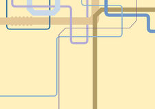Абстрактная геометрическая промышленная предпосылка с пестроткаными трубами Стоковые Изображения RF