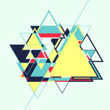 Абстрактная геометрическая ретро красочная предпосылка Стоковые Фото
