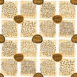 Абстрактная геометрическая решетка Doodle иллюстрация вектора