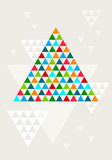 Абстрактная геометрическая рождественская елка, вектор Стоковое Изображение RF