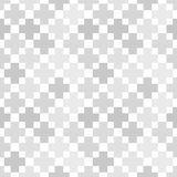 Абстрактная геометрическая серая безшовная картина Стоковые Фото