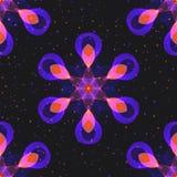 Абстрактная геометрическая симметричная безшовная картина неоновое шестиугольного иллюстрация штока