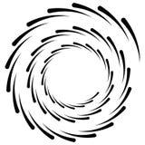 Абстрактная геометрическая спираль, элемент пульсации с циркуляром, concent иллюстрация вектора