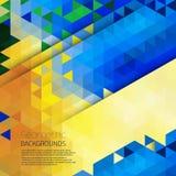 Абстрактная геометрическая цветастая предпосылка Стоковая Фотография RF