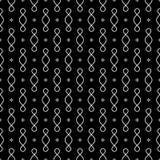 Абстрактная геометрическая черно-белая безшовная картина Стоковые Фотографии RF