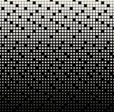 Абстрактная геометрическая черно-белая картина полутонового изображения квадрата градиента бесплатная иллюстрация