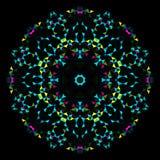 Абстрактная геометрическая яркая картина калейдоскопа Стоковое Изображение
