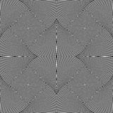 Абстрактная геометрическая monochrome предпосылка - мозаика 4 вращая Стоковое Изображение