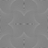 Абстрактная геометрическая monochrome предпосылка - мозаика 4 вращая Стоковые Изображения