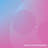 Абстрактная гипнотическая линия предпосылка Польза как крышка, карточка, брошюра, веб-дизайн Стоковая Фотография