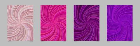 Абстрактная гипнотическая спираль разрывала комплект шаблона предпосылки брошюры нашивки Стоковые Фотографии RF