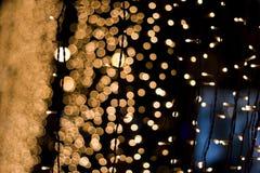 абстрактная гирлянда освещает улицу ночи Стоковое Изображение RF