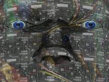 абстрактная головка предпосылки 3d Стоковые Фото