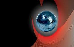 абстрактная головоломка глобуса предпосылки Стоковое Фото