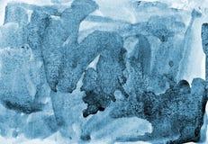 Абстрактная голубая акварель на бумажной текстуре как дизайн предпосылки Стоковое Фото