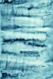 Абстрактная голубая акварель на бумажной текстуре как дизайн предпосылки Стоковое Изображение RF