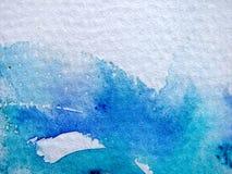 абстрактная голубая акварель 3 Стоковая Фотография RF