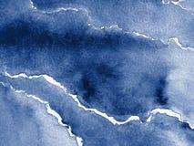 абстрактная голубая акварель Стоковая Фотография RF