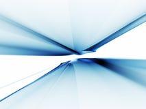 абстрактная голубая безграничность горизонта с протягивать к Стоковое фото RF