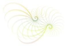 абстрактная голубая белизна зеленого цвета фрактали конструкции бесплатная иллюстрация