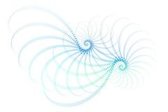 абстрактная голубая белизна фрактали конструкции иллюстрация вектора