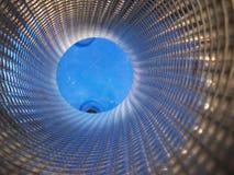 абстрактная голубая внутренняя труба Стоковые Фотографии RF
