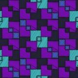 Абстрактная голубая и фиолетовая картина квадрата вышивки Стоковые Изображения RF