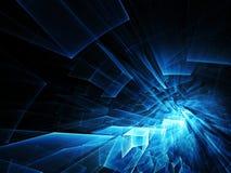 Абстрактная голубая и черная текстура Стоковые Изображения