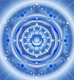 абстрактная голубая картина мандала Стоковые Фотографии RF