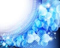 абстрактная голубая карточка Стоковое фото RF