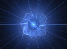 абстрактная голубая конструкция иллюстрация штока