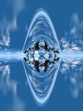 абстрактная голубая конструкция бесплатная иллюстрация