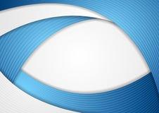 Абстрактная голубая корпоративная волнистая предпосылка вектора Стоковая Фотография
