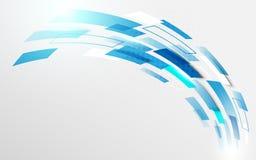 Абстрактная голубая предпосылка геометрических и кривой движения технологии цифровая высокой технологии концепции Стоковые Изображения
