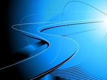 Абстрактная голубая предпосылка дороги Стоковые Изображения RF