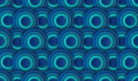 Абстрактная голубая предпосылка круга, вектор, иллюстрация, бумажное искусство стоковые фото