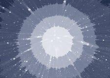Абстрактная голубая предпосылка с кругами в середине Космическая предпосылка протягивая в расстояние Стоковые Изображения