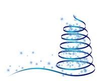 абстрактная голубая рождественская елка Стоковая Фотография RF
