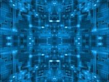 Абстрактная голубая сферически цепь Стоковое Изображение RF