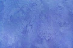 Абстрактная голубая текстурированная предпосылка Декоративные стены гипсолита Стоковые Изображения